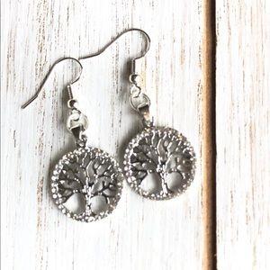 3 for $25 Silver Tree Earrings